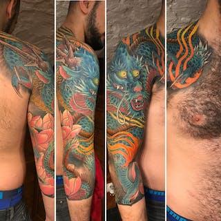Dragonking Tattoo Pattaya thailand   Beauty
