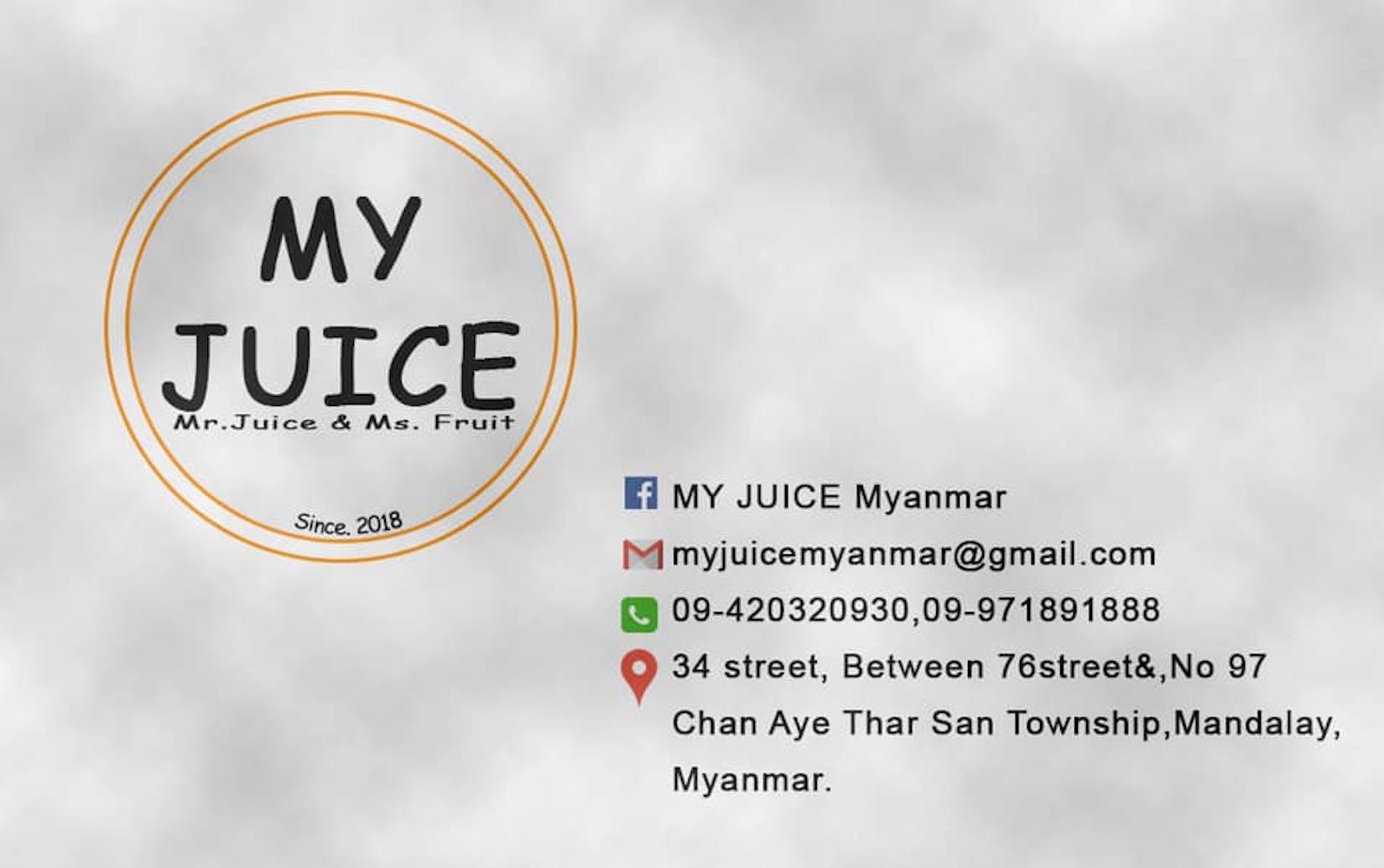 MY JUICE Myanmar | yathar