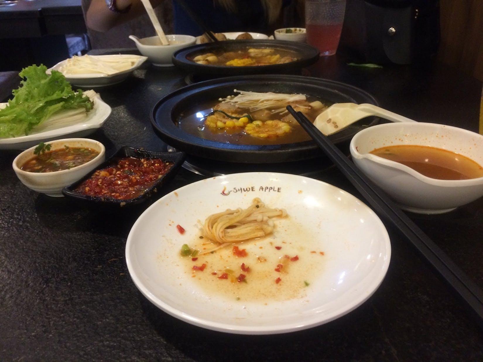 Shwe Apple Hot Pot | yathar